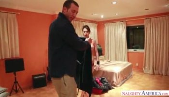 Oil Massage from this man by a spectacular blonde woman