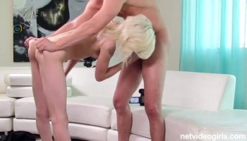 Blonde enjoys lover and is fucked super hard